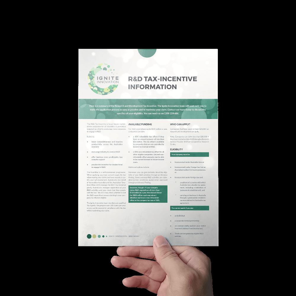 IGNITE Innovation R&D Information Sheet